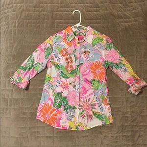 Lilly Pulitzer for Target Button Up Blouse, Size S